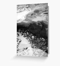 Rainbow Beach Rockpool (b&w) Greeting Card