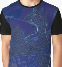 Sydney Inner West Map in Blue Graphic T-Shirt