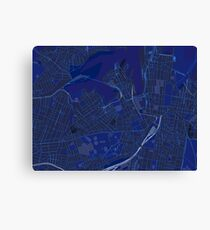 Sydney Inner West Map in Blue Canvas Print
