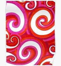 Doodle Swirls Poster