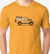 Eine grafische Interpretation der Defender 110 Station Wagon Camel Trophy Unisex T-Shirt