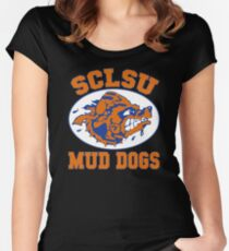 SCLSU Mud Dogs Women's Fitted Scoop T-Shirt