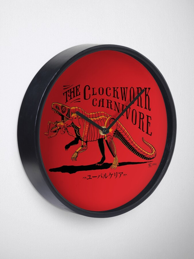 Alternate view of Clockwork Carnivore (Red EUPARKERIA-TYPE) Clock