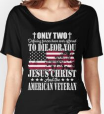Jesus Christ And The American Veteran Women's Relaxed Fit T-Shirt