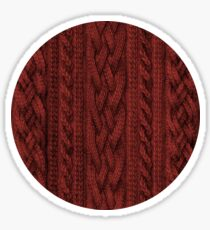 Cardinal Red Cable Knit Sticker