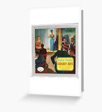 Sophie Tucker Cabaret Days Greeting Card
