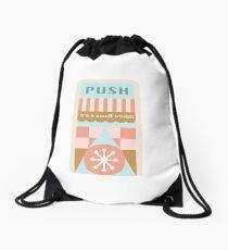 Small World Trash Can Design Drawstring Bag