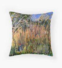 Hidden Life in the Swamp by Gidja Walker (Purple Swamp Hen) Set 2 of 3 Throw Pillow