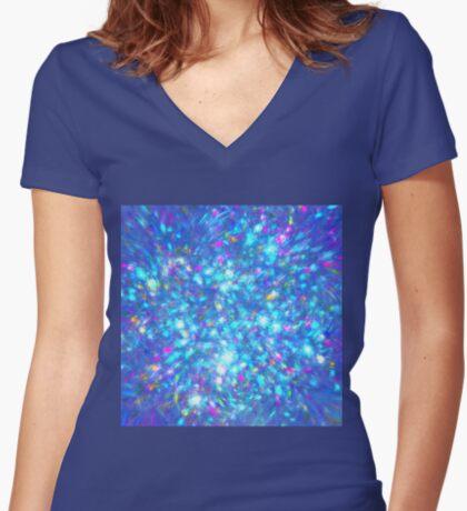 Winter #fractal art Fitted V-Neck T-Shirt
