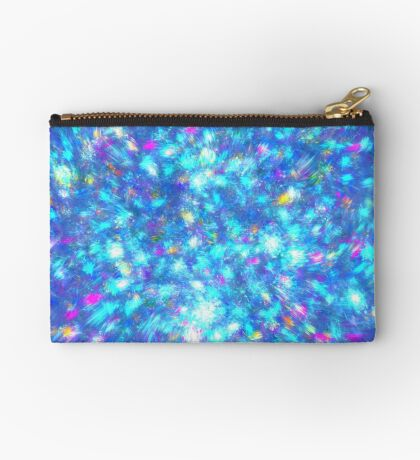 Winter #fractal art Zipper Pouch