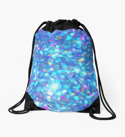 Winter #fractal art Drawstring Bag