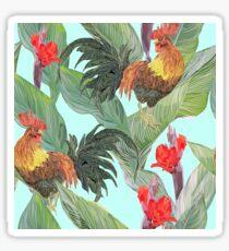 Tropikal roosters Sticker
