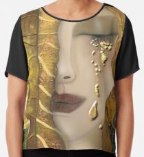 My Klimt Serie:Gold Chiffon Top