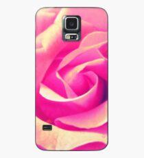 Rosenblüte - rosa - gelb - Wassertropfen - Rose - yellow - pink Hülle & Skin für Samsung Galaxy