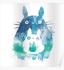 Chibi Cute Monster Totoro Poster