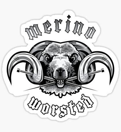 Heavy Metal Knitting - Merino - Worsted Sticker