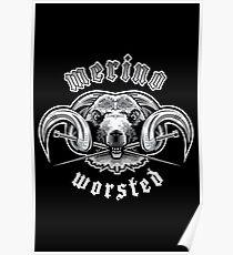Heavy Metal Knitting - Merino - Worsted Poster