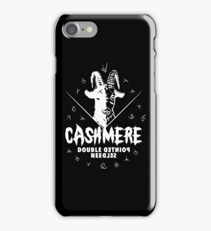Heavy Metal Knitting - Cashmere - Double Pointed Needles iPhone Case/Skin