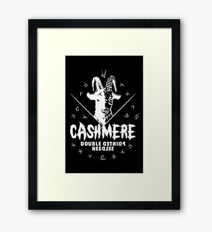 Heavy Metal Knitting - Cashmere - Double Pointed Needles Framed Print