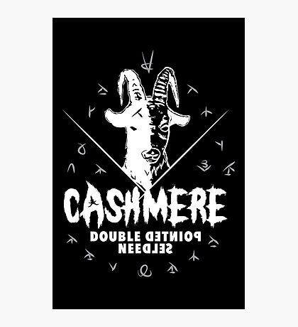 Heavy Metal Knitting - Cashmere - Double Pointed Needles Photographic Print