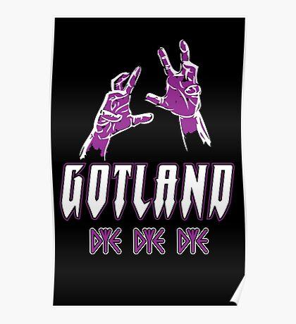 Heavy Metal Knitting - Gotland - DYE DYE DYE Poster