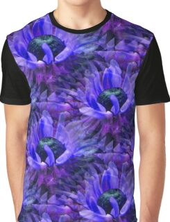 Abstract Purple Daisy Flower Pattern Graphic T-Shirt