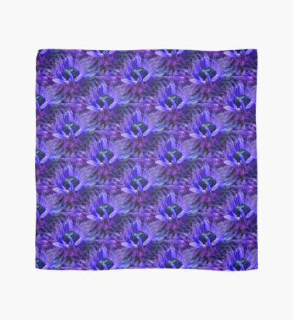 Abstract Purple Daisy Flower Pattern Scarf
