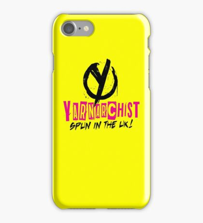 Heavy Metal Knitting - Yarnarchist - Spun in the UK iPhone Case/Skin