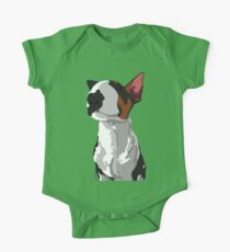 Elijah Bull Terrier One Piece - Short Sleeve