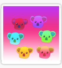 Winter Koalas - Pink/Purple Sticker