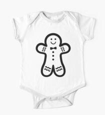 Gingerbread Man (black & white) Kids Clothes