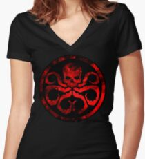 Hydra Women's Fitted V-Neck T-Shirt