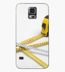 4 yellow and one unique white measuring tape on white background Case/Skin for Samsung Galaxy