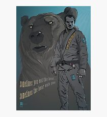 Sometimes You Eat The Bear... Photographic Print