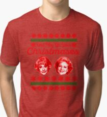 Golden Girls Christmas Tri-blend T-Shirt
