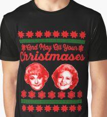 Goldene Mädchen Weihnachten Grafik T-Shirt