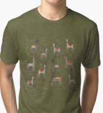 Llamas in the Meadow Tri-blend T-Shirt
