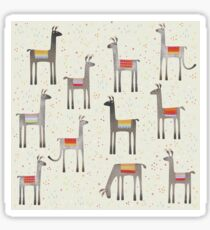 Llamas in the Meadow Sticker