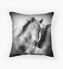 Clandestine meeting. Throw Pillow