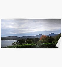 Cloudy Caha Mountains Poster