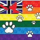 Gay Australian Pup Pride Flag by NerdyDoggo