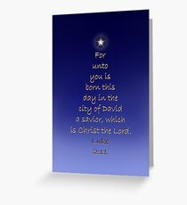 For Unto You is Born a Savior Greeting Card