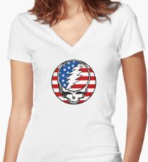 Steal your Flag Women's Fitted V-Neck T-Shirt