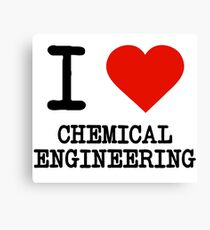 I Love Chemical Engineering Canvas Print