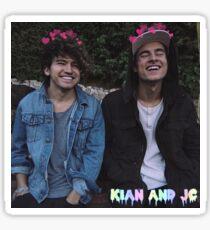 Kian and Jc smiley hearts Sticker