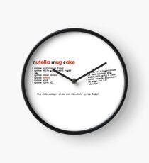 nutella mug cake Clock