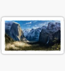 Tranquil Mountains Sticker