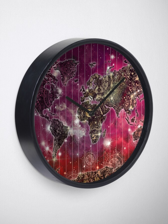 Alternative Ansicht von Weltkarte Mandala Raum 2 Uhr