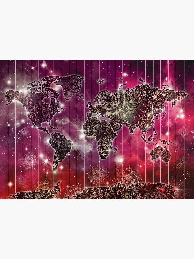 Weltkarte Mandala Raum 2 von BekimART