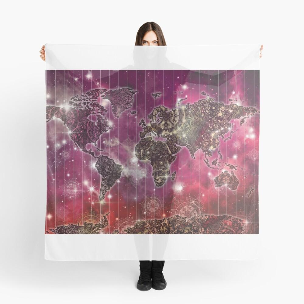 Weltkarte Mandala Raum 2 Tuch